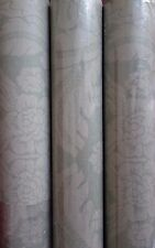 3 Double Rolls Sterling Prints Green Beige Floral Wallpaper VE2084 13.7yd 27in