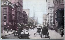 New York City Postcard Fifth Avenue Busy Street Scene c1910s Unused