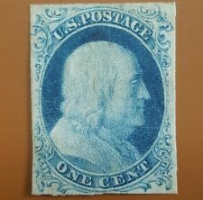 US Sc #9 var recut once type IV scarce Mint VF+ Scott $775