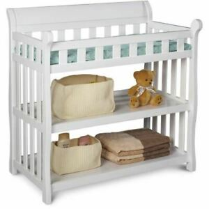 Delta Children Eclipse Changing Table with Pad, White