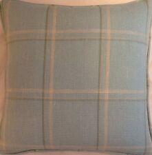 A 16 Inch Cushion Cover In Laura Ashley Corby Duck Egg Fabric
