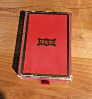 Vintage frisco railroad playing cards red box, ruler, pen and pin