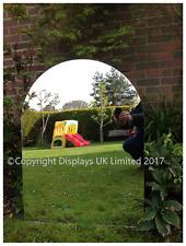 Jardín De Acrílico/hoja de espejo interior llano con tapa redondeada - 585mm X 795mm