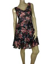 Betsey Johnson Women's Bow-back Floral-print Dress Pink Floral 14