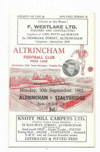 1963/64 Cheshire County League - ALTRINCHAM v. STALYBRIDGE CELTIC