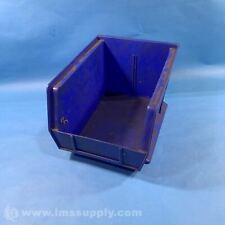 """Akro Mils 30-239 Blue Storage Bin, 10-3/4"""" L x 8-1/4"""" W x 7"""" H USIP"""