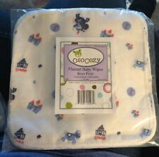 OsoCozy Cloth Flannel Baby Wipes - 15 Ct Nwt! Free S/H