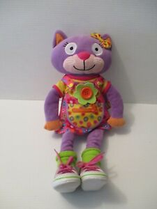 "Alex Little Hands Stuffed Cat 20"" Learn To Dress Educational Plush"