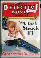 "Pulp Magazine: COMPLETE DETECTIVE NOVEL June 1931. G H. Daugherty ""Clock Str 13"