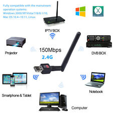 150Mbps 2.4Ghz Wireless USB WiFi Network Adapter w/Antenna 802.11N SL