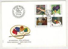 Fête nationale 27 mai 1986/Berne Bundesfiirmarken/4 Timbres Pro Patria Suisse