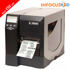 Zebra ZM400 203 DPI Direct/Thermal Transfer Barcode/Label Printer With Support