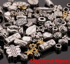 90Pcs Mixed Spacer Tibet Silver Beads For Jewelry Making