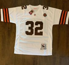 Jim Brown Cleveland Browns Throwback Mens Jersey Size 48 Free Shipping (I)