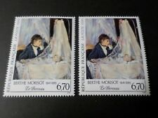 FRANCE 1995, VARIETE COULEURS, timbre 2972, TABLEAU MORISOT, neuf**, MNH STAMP