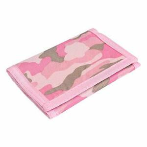 RFID Wallet Camouflage Wallet Nylon Trifold Wallets for Men,Mini Trifold Pink