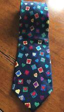 Alynn Neckwear Sweethearts 100% Silk Hearts  Multi-Color Classic EUC