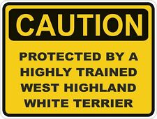 Dog Breed West Highland White Terrier Caution Sticker Pet for Bumper Car Door