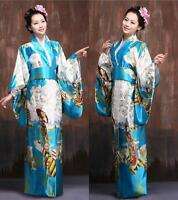 Vintage Japanese Kimono Yukata Haori Costume Geisha Dress Obi Retro for womens #