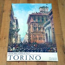 RISORGIMENTO TORINO poster manifesto affiche Italia Via MAria Vittoria Lagrange