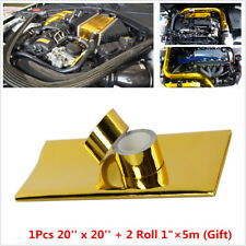 1200°f Continous Adhesive Reflective Gold Heat Shield Tape Thermal Racing Engine