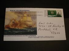HMS GUERRIERE Naval Cover 2013 USS CONSTITUTION War of 1812 Cachet