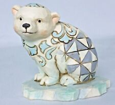 Jim Shore Mini Polar Bear On Ice Figurine Heartwood Creek 4055060