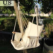 Hammock Hanging Chair Air Deluxe Sky Swing Indoor Outdoor Chair Solid Wood 330lb
