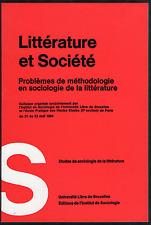 Littérature et Société. Université Libre de Bruxelles, 1967. E.O.