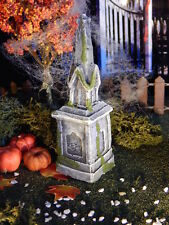 Halloween TOMBSTONE ~ Steeple Style Statue~GRAVE, cemetery Headstone, Dept 56