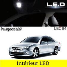 Kit 17 ampoules à LED pour l'éclairage intérieur habitacle blanc Peugeot 607