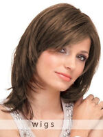 100% Human Hair New Light Brown Medium Natural Straight Wig
