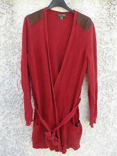 Gilet long RALPH LAUREN femme coton bordeaux cardigan taille M