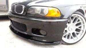 Black plastic front bumper lip splitter for BMW E46 3 Series 1997-2006
