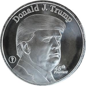 1 oz Silver Round Donald J Trump 45th President of the USA White House .999 BU