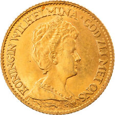 [#884496] Coin, Netherlands, Wilhelmina I, 10 Gulden, 1917, AU(50-53), Gold