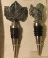 POTTERY BARN Wine Bottle Stoppers - Set of 2 - NEW