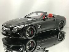 GT Spirit Mercedes Benz SL63 AMG (R231) Cabriolet Black Red Interior Resin 1:18