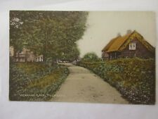 old  postcard   vicarage lane   tillingham (unposted)