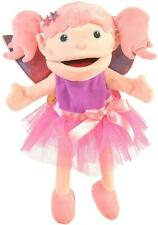 Fiesta Crafts FAIRY HAND PUPPET WITH MOVING MOUTH Pink Kids Pretend Play Toy BN