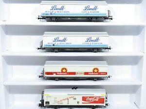 "Roco H0 Kühlwagen-Set Güterwagen ""Lindt / Coca Cola"""