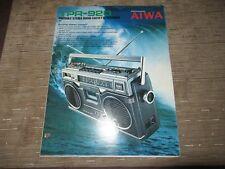 AIWA TPR-920 TPR920 TPR940 Stereo Portable Cassette player Original Catalogue