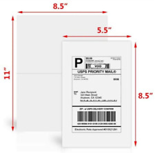 "Premium 8.5"" X 5.5"" Half Sheet Self Adhesive Shipping Labels Shipping Paper"