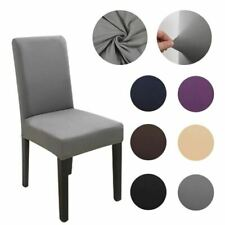 1 Pc Fabric Chair Cover for Dining Room Chairs Covers High Back Living Room Kitc