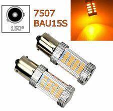 2pcs Amber Rear Turn Signal Light BAU15S 7507 PY21W 92 LED Bulb Lamp A1 LAX