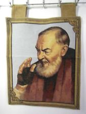 Saint Padre Pio Jacquard Woven Tapestry Textile Wall Art Home Decor Holy