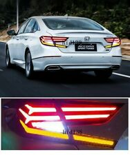 For Honda Accord LED Taillights Assembly Dark / Red LED Rear Lamps 2018 -2019