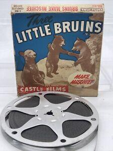 "Castle Films 8 mm Movie ""Three Little Bruins Make Mischief"" Great Condition"