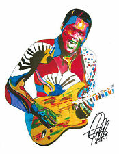 Robert Cray, Singer, Guitar, Blues Guitarist, Fender Guitar, 8.5x11PRINT w/COA