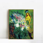 "Framed Canvas Giclee Print Art Flower#21 by Marc Chagall Wall Art 24""x32"""